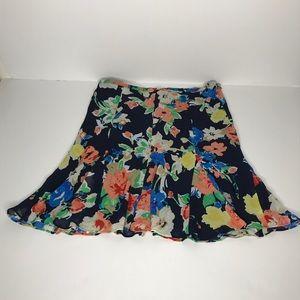 "Ralph Lauren Floral Sheer ""Tulip Style"" Skirt (12)"